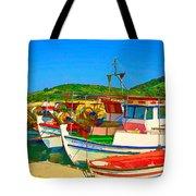 Colourful Boats Tote Bag