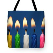 Colourful Candles Lit Tote Bag