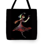 Colourful Dancer  Tote Bag