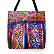 Colourful Fabric Art Tote Bag