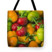 Colourful Mini Bell Peppers Tote Bag