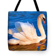 Colourful Swan Tote Bag