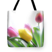 Colourful Tulips That Are Digitally Softened Tote Bag