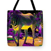 Colourful Zebras  Tote Bag