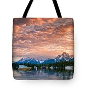 Colter Bay Sunset Tote Bag