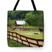 Colts On A Farm Tote Bag