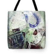 Colts Player Helmet Abstract Tote Bag