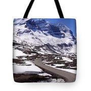 Columbia Icefields, Alberta - Panorama Tote Bag