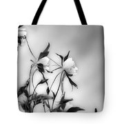 Columbines In Black And White Tote Bag