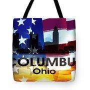 Columbus Oh Patriotic Large Cityscape Tote Bag