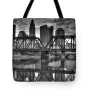 Columbus Ohio Downtown Bw Tote Bag