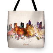 Columbus Painted City Skyline Tote Bag