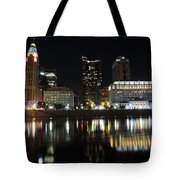 Columbus Skyline At Night Tote Bag