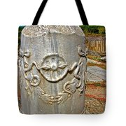 Column Along Sacred Road In Pergamum-turkey  Tote Bag
