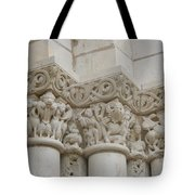 Column Relief Abbey Fontevraud  Tote Bag
