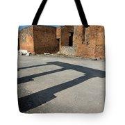 Column Shadows Forum At Pompeii Italy Tote Bag