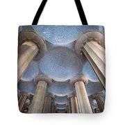 Columns And Domes Of Hypostyle Room In Park Guell Tote Bag
