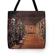 Columns And Flowers 2 Tote Bag