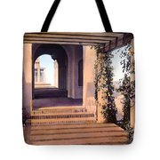 Columns And Flowers Tote Bag by Terry Reynoldson