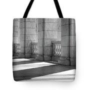 Columns And Shadows Tote Bag