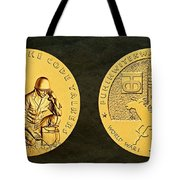 Comanche Nation Tribe Code Talkers Bronze Medal Art  Tote Bag