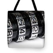 Combination Lock Macro Tote Bag