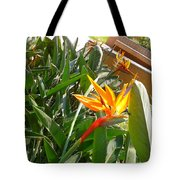 Combination Of Yellow-orange And Red Flower   Tote Bag