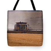 Combine Harvester And Cows Tote Bag