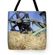 Combine Harvester  Tote Bag by Shay Fogelman