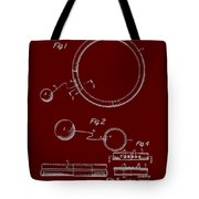 Combined Hoop And Tethered Ball Toy Patent 1967 Tote Bag