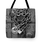 Come On In In Black And White Tote Bag