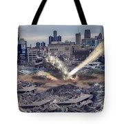 Comerica Park Asteroid Tote Bag