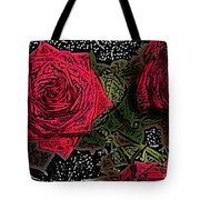 Comic Book Roses Tote Bag
