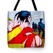 Comic Strip Kiss Tote Bag by MGL Studio