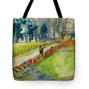 Coming Home From Work, 1982 Wc On Paper Tote Bag