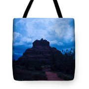 Coming Storm Bell Rock Tote Bag