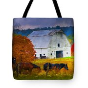 Coming To The Barn Tote Bag