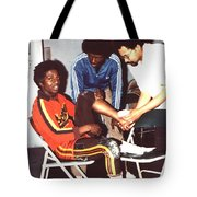 Coming To The Sad End Of A Long Career In The Old School Roller Derby  Tote Bag