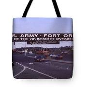 Fort Ord  Commander  Major General Marvin L. Covault  7th Infantry Division 1992 Tote Bag