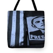 Commercialization Of The President Of The United States In Cyan Tote Bag