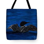 Common Loon Preening Tote Bag