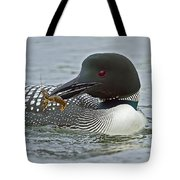Common Loon With Food Tote Bag