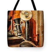 Communication - Candlestick Phone Tote Bag