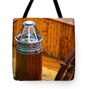 Compass And Bright Work Old Sailboat Tote Bag