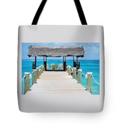 Tranquility At Compass Point, Nassau, Bahamas Tote Bag
