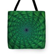 Complex Convexity Cavern Moss And Blue Tote Bag