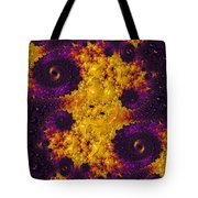 Complimentary - Yellow And Purple Tote Bag