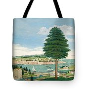 Composite Harbor Scene With Castle Tote Bag