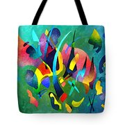 Composition In Blue And Green Tote Bag