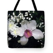Composition With A Pink Orchid Tote Bag